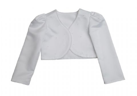 Beaded Bolero Jacket White
